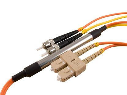 Picture of 2M Mode Conditioning Duplex Fiber Optic Patch Cable (50/125) - SC (equip.) to ST