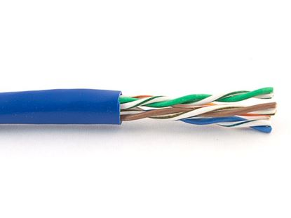 Picture of Cat5e Stranded Riser UTP 350Mhz Network Cable - Blue - 1000 FT