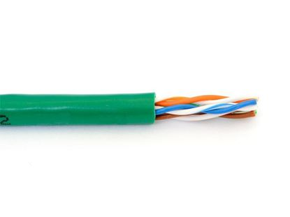 Picture of Cat6 Stranded Riser UTP 550Mhz Network Cable - Green - 1000 FT