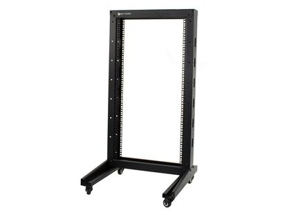 Picture of 2-Post Free Standing Open Frame Network Relay Rack - 22U, M6 Cage Nut Rails