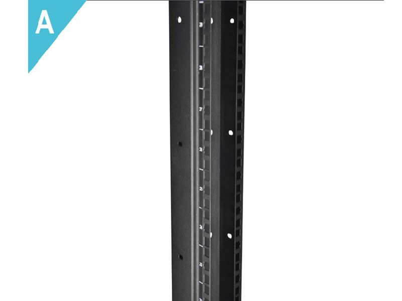 Networx - 2-Post Free Standing Open Frame Network Relay Rack - 47U ...