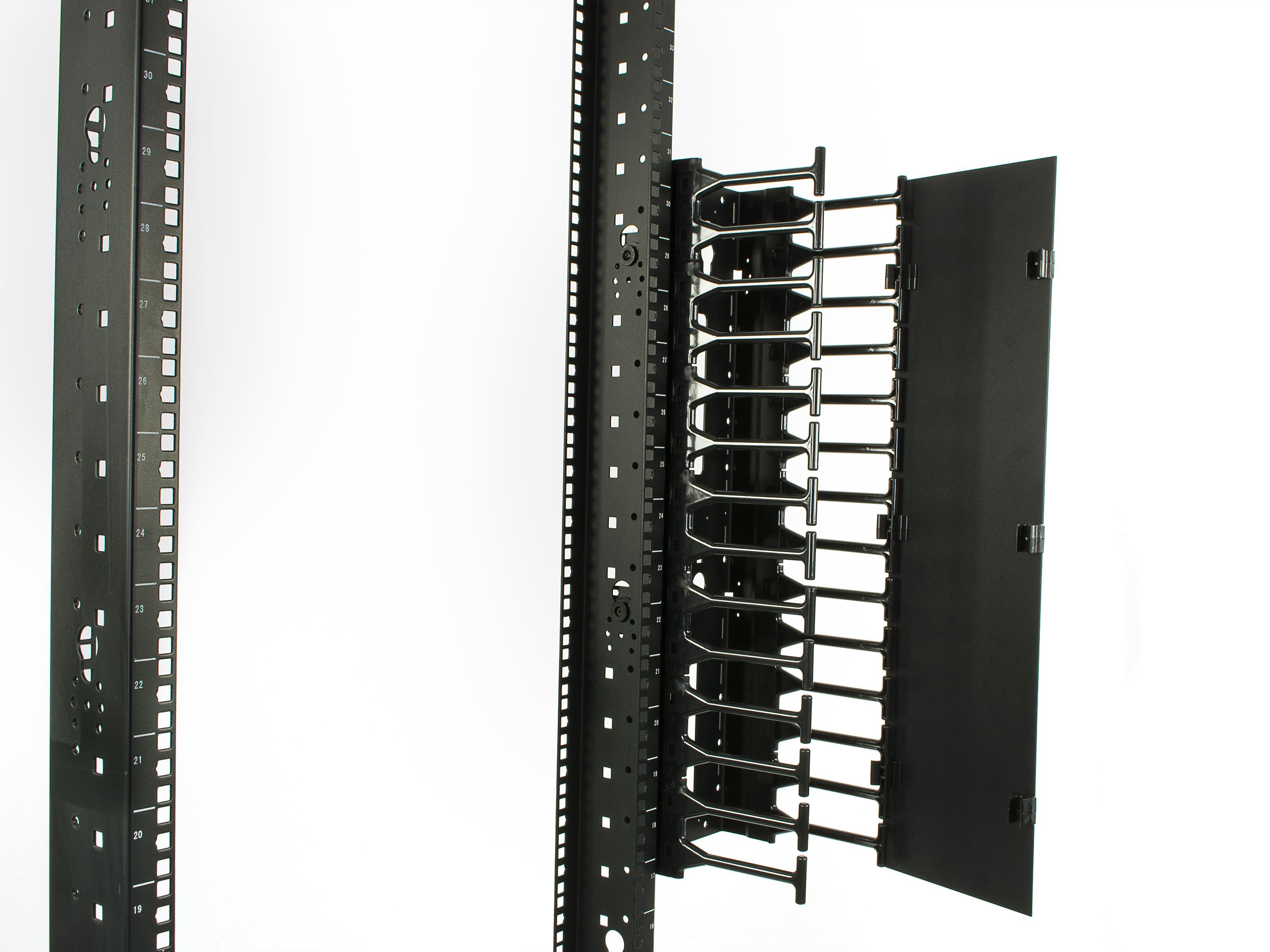 Networx - 2-Post Open Frame Network Relay Rack - 25U, Cold Rolled ...