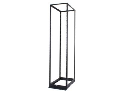 Picture of 4-Post Adjustable Depth Open Frame Network Rack - 48U, M6 Cage Nut Rails