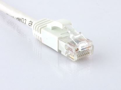 Picture of CAT6 Patch Cable - 1 FT, White, Booted