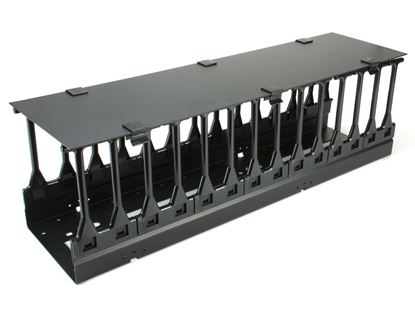 Picture of Vertical Mount Cable Tray - 6 Inches, Black