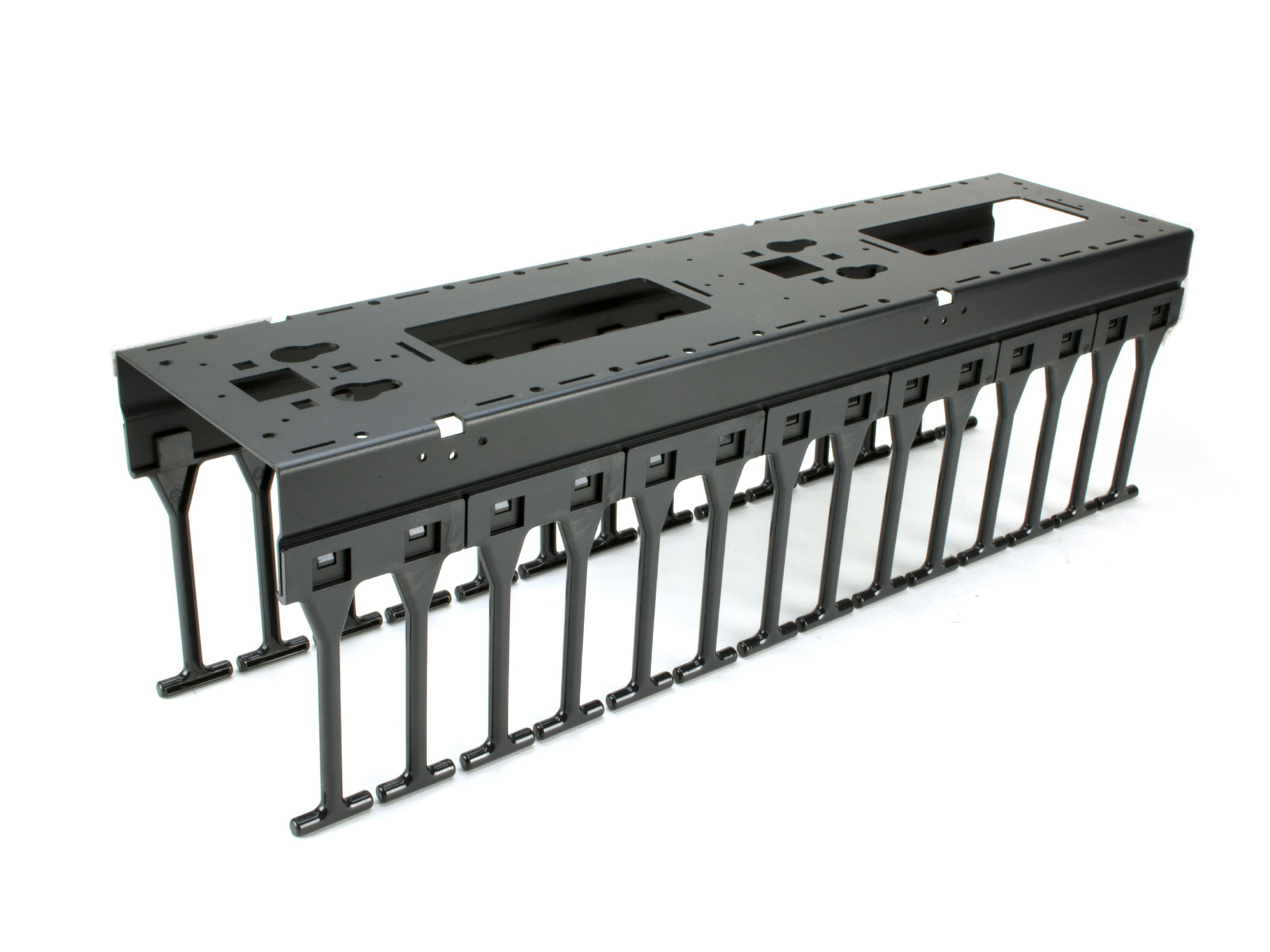 Networx Vertical Mount Cable Tray 6 Inches Black