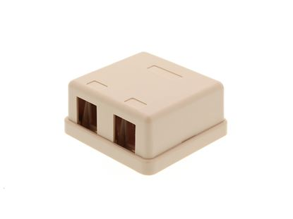 Picture of 2 Port Surface Mount Box - Ivory