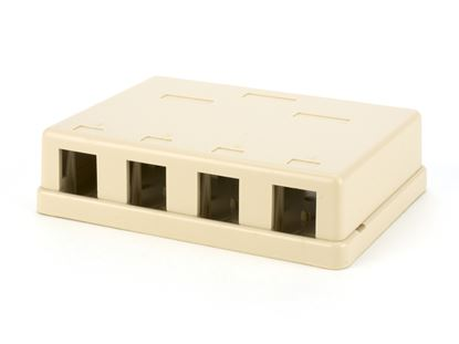 Picture of 4 Port Surface Mount Box - Ivory