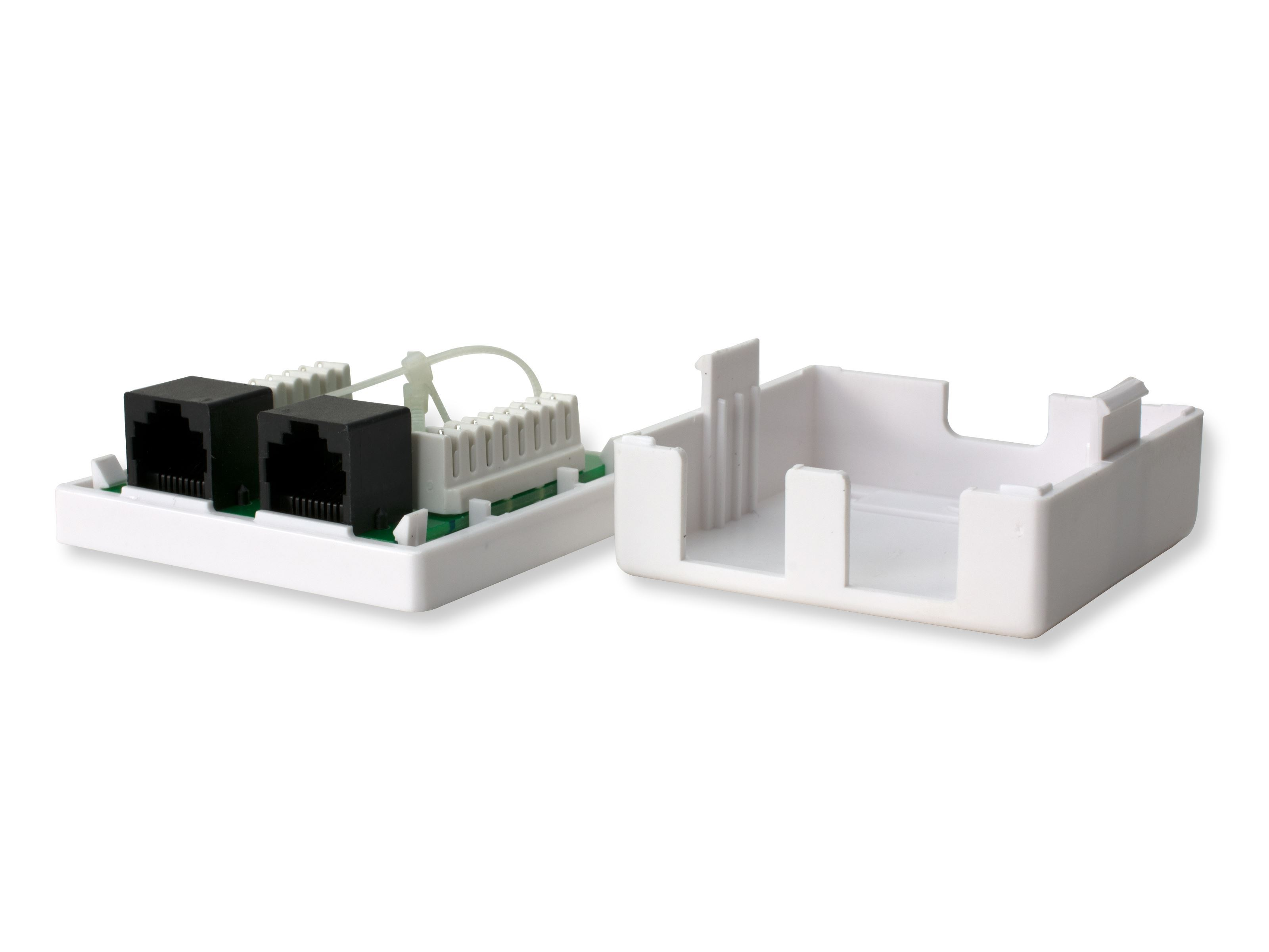 Networx Surface Mount Box With Cat6 110 Punch Down Terminals Dual Cat 6 Jack Wiring Diagram Picture Of Rj45 8