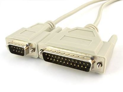 Picture of 10 FT Null Modem Cable - DB9 Male to DB25 Male