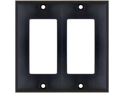 Picture of Dual Gang Decorex Wall Plate - Black