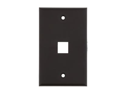 Picture of 1 Port Keystone Faceplate - Single Gang - Black