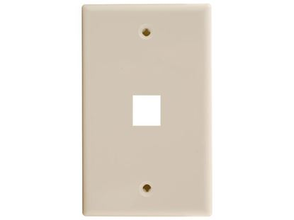Picture of 1 Port Keystone Faceplate - Single Gang - Ivory