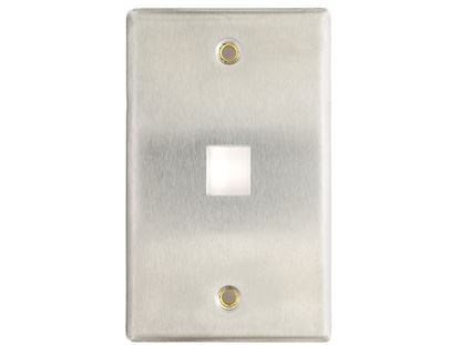 Picture of 1 Port Stainless Steel Keystone Faceplate