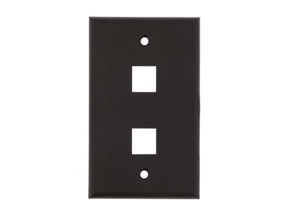 Picture of 2 Port Keystone Faceplate - Single Gang - Black