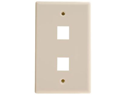 Picture of 2 Port Keystone Faceplate - Single Gang - Ivory