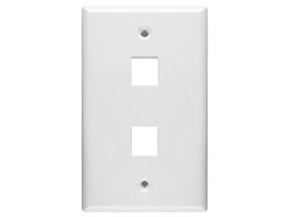 Picture of 2 Port Keystone Faceplate - Single Gang - White