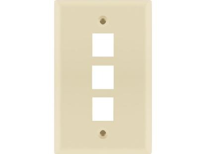 Picture of 3 Port Keystone Faceplate - Single Gang - Almond