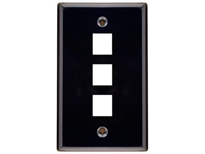 Picture of 3 Port Keystone Faceplate - Single Gang - Black