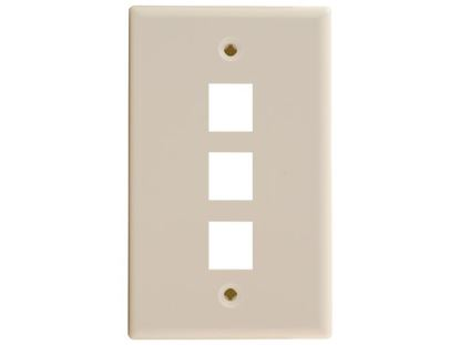 Picture of 3 Port Keystone Faceplate - Single Gang - Ivory
