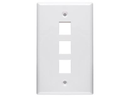 Picture of 3 Port Keystone Faceplate - Single Gang - White