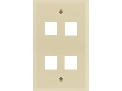 Picture of 4 Port Keystone Faceplate - Single Gang - Almond