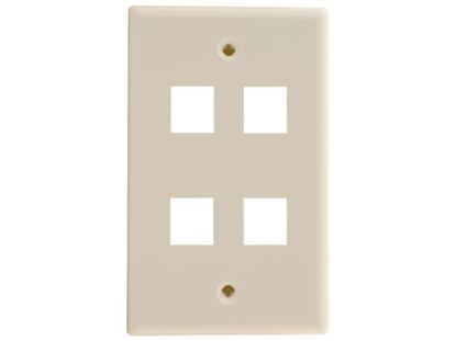 Picture of 4 Port Keystone Faceplate - Single Gang - Ivory