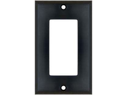 Picture of Single Gang Decorex Wall Plate - Black