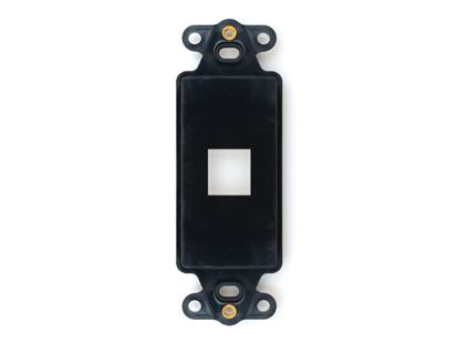 Picture of 1 Port Decorex Face Plate Insert - Black