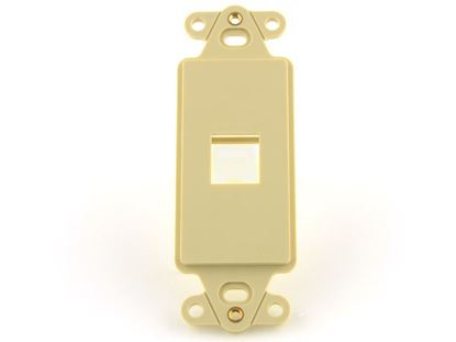 Picture of 1 Port Decorex Face Plate Insert - Ivory