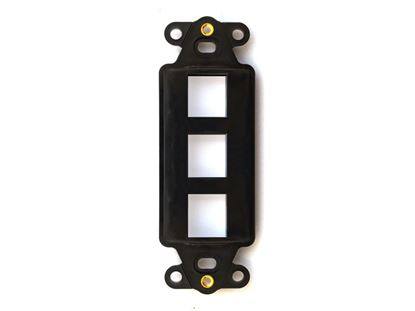 Picture of 3 Port Decorex Face Plate Insert - Black