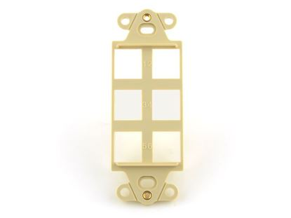 Picture of 6 Port Decorex Face Plate Insert - Ivory
