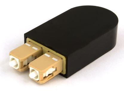 Picture of SC Fiber Optic Loopback Adapter - OM4, UPC (50/125)