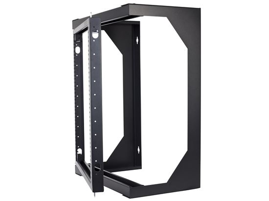 Networx 12u Open Frame Swing Out Wall Mount Rack 201 Series 16 Inches Deep Flat Packed