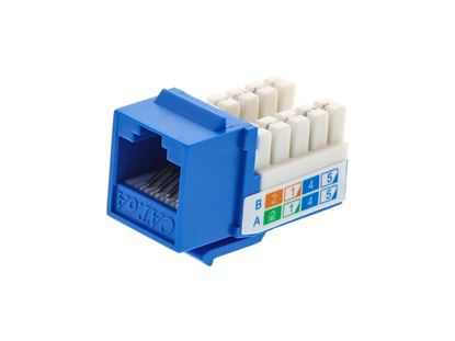 Picture of CAT6A SpeedTerm™ Keystone Jack 90 Degree - Blue