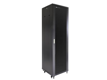 "Picture of Server Enclosure 42U 23""W x 23""D x 80""H, Tempered Glass Door, Removable Side Panels, Solid Rear Door, Knockdown"