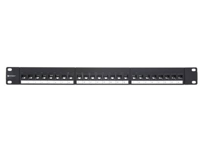 Picture of CAT6 High-Density Feed Through Patch Panel - 24 Port, 1U